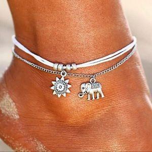 Jewelry - New!🌟Beach Silver Elephant Ankle Bracelet